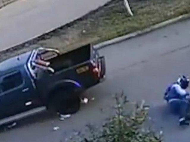 Callao: camioneta impacta a motociclista y se da a la fuga