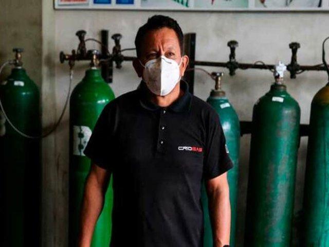 Empresario que vende oxígeno a precio justo recibió ayuda para su hermana internada por COVID-19
