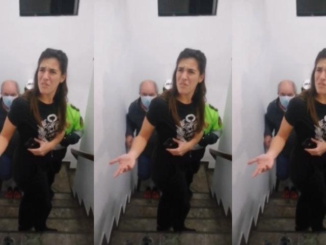 Miraflores: habla mujer acusada de botar a su madre a la calle y por discriminar