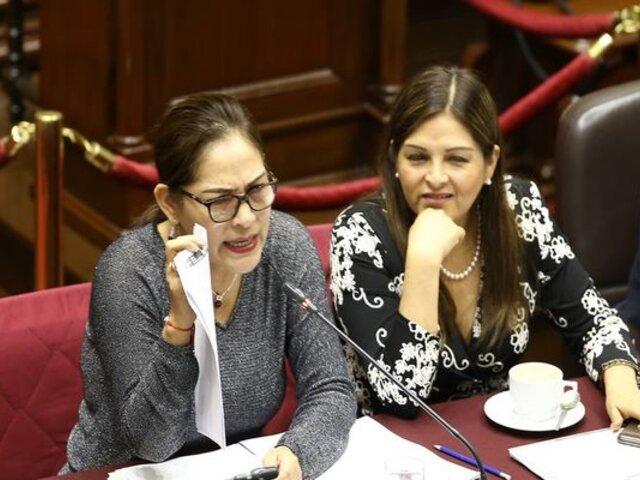 Exparlamenterias Karina Beteta y Milagros Salazar regresaron al Congreso en cargos de confianza