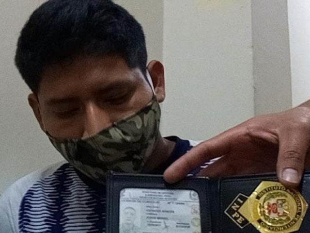 Empleado del INPE fue intervenido con casi un kilo de marihuana en su poder