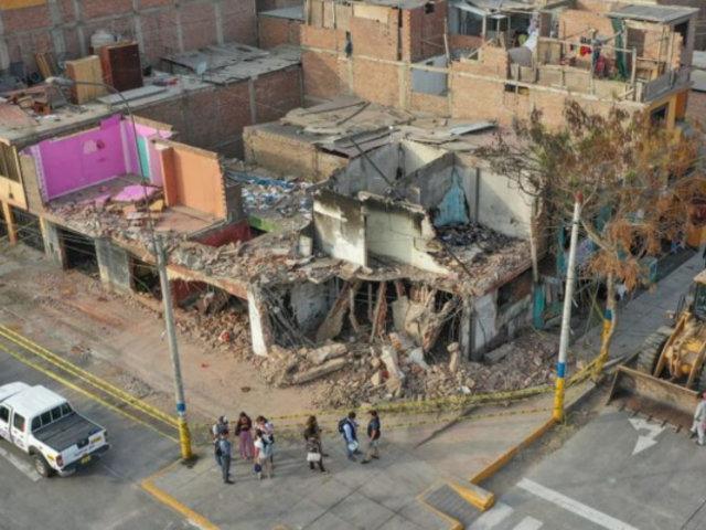 Deflagración en VES: reinician labores de refacción en viviendas afectadas