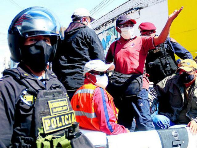 CGTP realiza jornadas de protestas en diferentes provincias del Perú