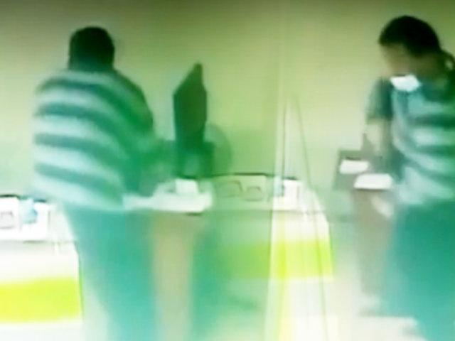 Jesús María: delincuente roba una laptop de una tienda