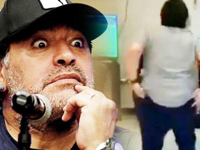 Diego Armando Maradona enseña el trasero bailando y genera polémica