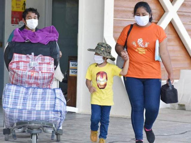 Regresaron a Madre de Dios 180 pobladores que estaban varados en Lima