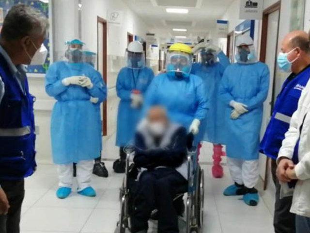 Chimbote: anciano de 104 años fue dado de alta tras derrotar  al Covid-19