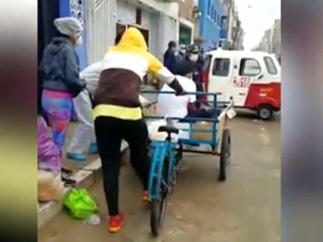 Huacho: hombre con síntomas de COVID-19 fue llevado en triciclo