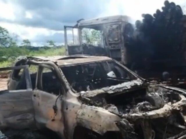 Huánuco: matan a empresarios madereros y queman vehículos en presunto ajuste de cuentas
