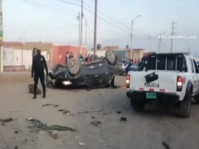 Huarmey: cámara de vigilancia captó aparatoso accidente que dejó 2 muertos