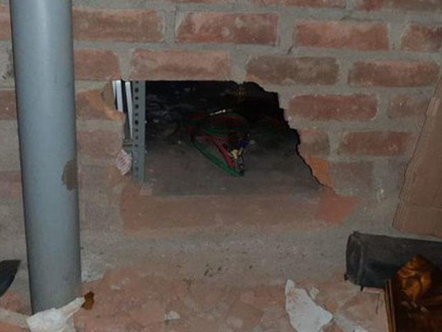 Chicayo: hacen forado para robar banco pero no pudieron llevarse nada