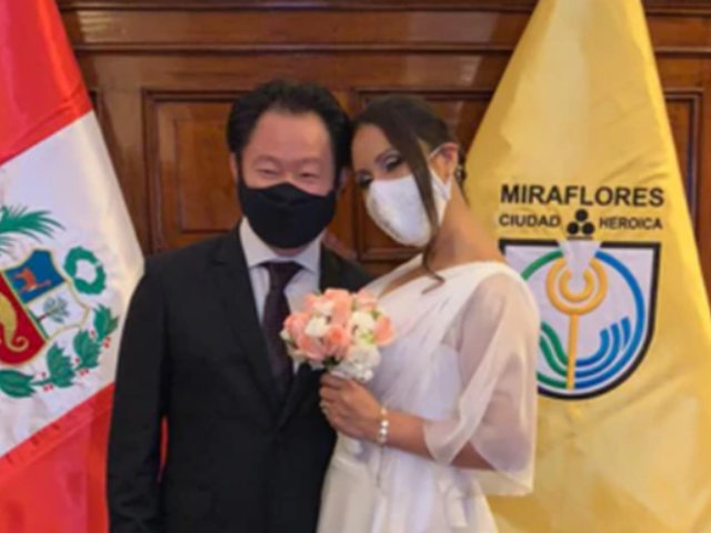 Kenji Fujimori se casó con empresaria Erika Muñoz en Miraflores