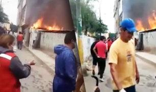Corto circuito ocasiona incendio en vivienda de El Agustino