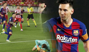 Lionel Messi llegó a su gol 700 frente al Atlético de Madrid