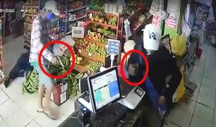 Puerto Maldonado: delincuentes armados golpean a policía al robar un minimarket