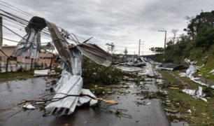 Fuerte ciclón golpeó a Brasil en plena crisis sanitaria y deja una decena de muertos