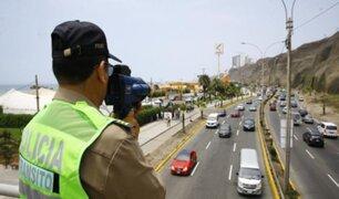 PNP volverá a sancionar por exceso de velocidad y conducir bajo los efectos del alcohol