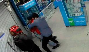 Chiclayo: personal de tienda de celulares se enfrentaron a delincuentes