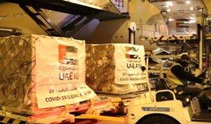 Emiratos Árabes envió 5 toneladas de suministros médicos al Perú