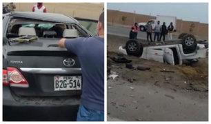 Cañete: Tres muertos tras choque frontal de vehículos en la Panamericana Sur