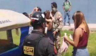 Ate: intervienen mototaxi que trasladaba 7 personas trasgrediendo distanciamiento social