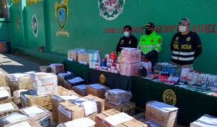 Decomisan dos toneladas de medicinas adulteradas y vencidas en Junín