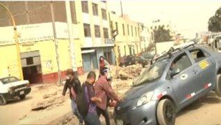 La Victoria: obras inconclusas dificultan el tránsito en la avenida Bausate y Meza