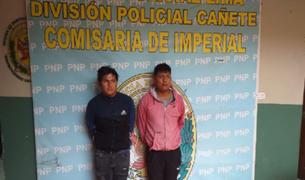 Cañete: policías detienen a delincuentes que asaltaron a financiera