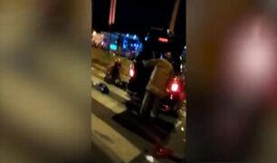 San Miguel: seis heridos graves deja choque de camionetas