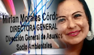 ¡EXCLUSIVO! Documento probaría que Mirian Morales sabía de la contratación de la tía de su hija