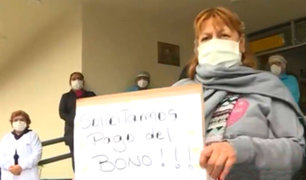 Breña: personal de salud Hospital del Niño protesta por falta de subsidio