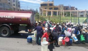 Arequipa: rotura de tubería matriz dejó sin agua potable a casi el 50% de la ciudad