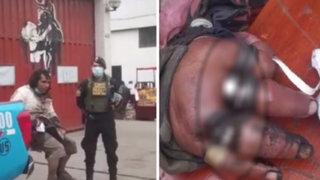 Policías y bomberos se unen para ayudar a indigente que tenía anillos atorados en sus dedos