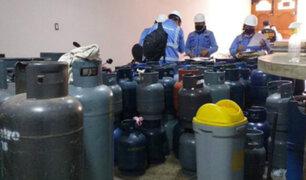 Surco: clausuran local clandestino que almacenaba 200 balones de gas