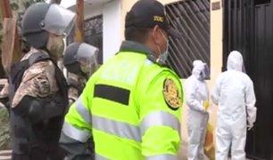 Comando COVID realiza pruebas de descarte acompañados de la Policía y Fuerzas Armadas