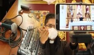 Así se realizan las misas on-line en plena pandemia