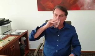 Brasil: Bolsonaro se graba tomando cuestionada hidroxicloroquina contra el COVID-19