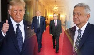 Donald Trump y López Obrador se reunieron en la Casa Blanca
