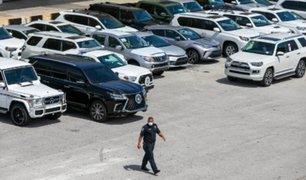 EEUU: incautan 81 autos de lujo que iban a Venezuela