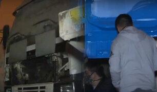 Ate: hallan taller donde desmantelaban camiones robados