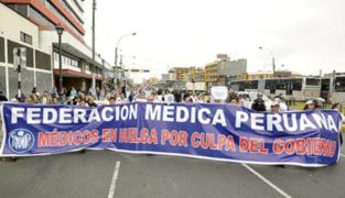 Federación Médica acatará paro este 15 y 16 de julio por EPP y contratos
