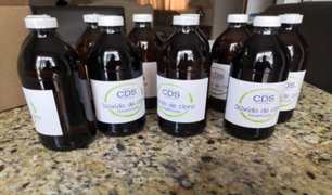Arequipa: dos pacientes graves por uso de dióxido de cloro