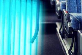 Buses interprovinciales son desinfectados con luz UV