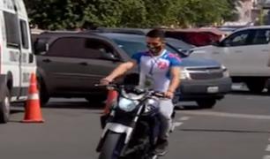 Jesús María: PNP recupera en tiempo récord  moto robada a fisicoculturista
