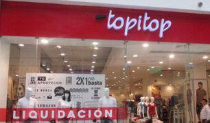 Empresa Topitop anuncia cierre de seis locales debido a pandemia de Covid-19