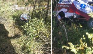 Cusco: ambulancia se despista y causa muerte de paciente con COVID-19