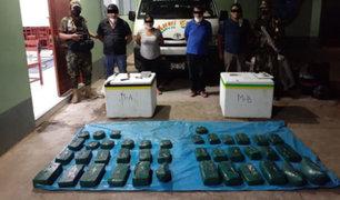 Huánuco: incautan más de 67 kilos de cocaína camufladas en cajas con pescado