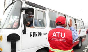 Transporte público deberá cumplir aforo de pasajeros dispuesto en tarjeta de propiedad