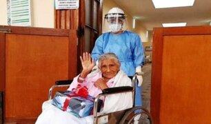 Hospital Dos de Mayo: anciana de 91 años derrotó a la COVID-19
