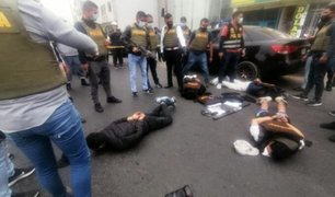 Los Olivos: capturan a presuntos delincuentes que pretendían asaltar local del BCP